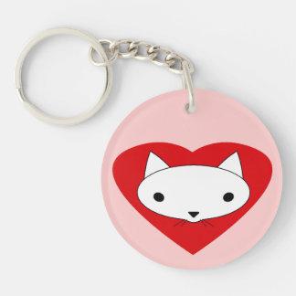 I love my cat heart keychain