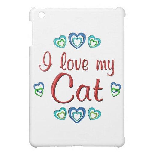 I Love My Cat iPad Mini Covers