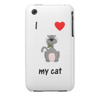 I Love My Cat iPhone 3 Case