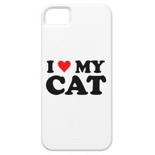 I Love My Cat iPhone 5 Covers