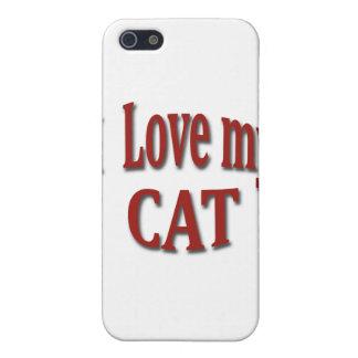 I Love my Cat iPhone SE/5/5s Cover