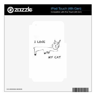 I Love My Cat iPod Touch 4G Skin