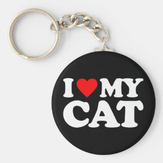 I LOVE MY CAT KEY CHAINS