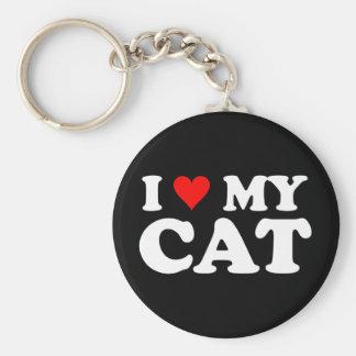 I Love My Cat Keychains