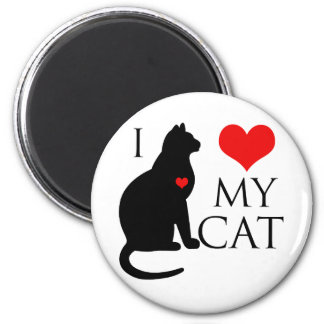 I Love My Cat 2 Inch Round Magnet