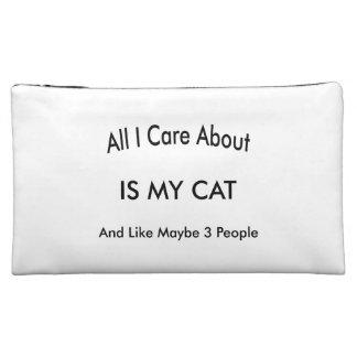 I Love My Cat Makeup Bag