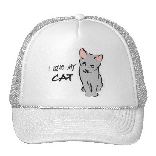 I love my cat! mesh hat