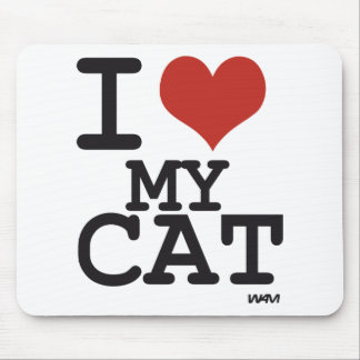 I love my cat mouse pad