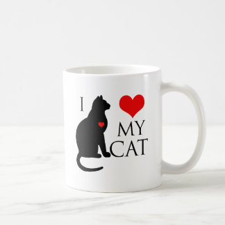 I Love My Cat Classic White Coffee Mug