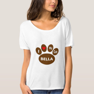 I Love My Cat Personalize T Shirt
