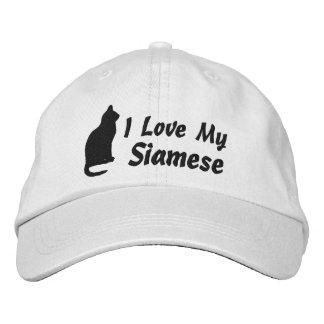 I Love My Cat Personalized Breed Embroidered Baseball Hat