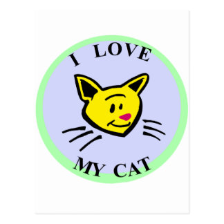 I Love My Cat!!! Postcard