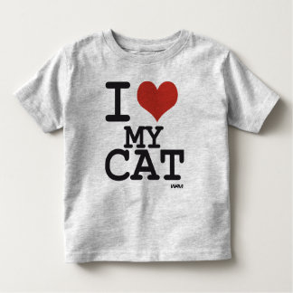 I love my cat toddler t-shirt