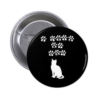 I Love My Cat--White Text 2 Inch Round Button
