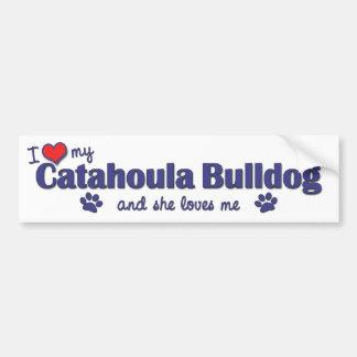 I Love My Catahoula Bulldog (Female Dog) Bumper Sticker