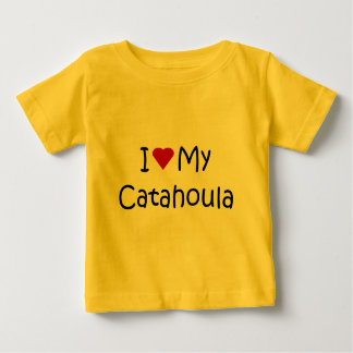 I Love My Catahoula Dog Lover Gifts and Apparel Baby T-Shirt