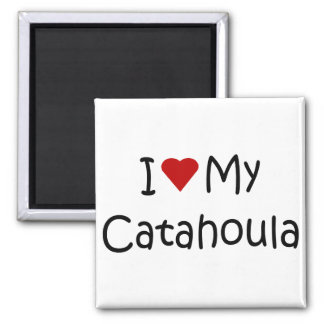 I Love My Catahoula Dog Lover Gifts and Apparel Fridge Magnet