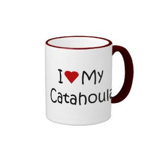 I Love My Catahoula Dog Lover Gifts and Apparel Ringer Mug