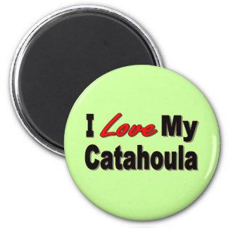 I Love My Catahoula Dog Merchandise Magnets