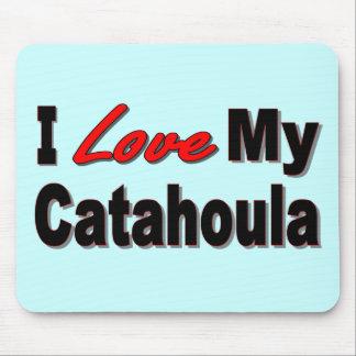 I Love My Catahoula Dog Merchandise Mouse Pad