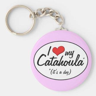 I Love My Catahoula (It's a Dog) Keychain