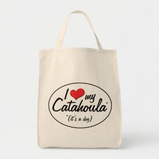 I Love My Catahoula (It's a Dog) Tote Bag