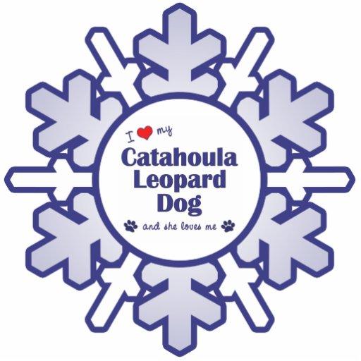 I Love My Catahoula Leopard Dog (Female Dog) Cutout