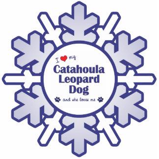 I Love My Catahoula Leopard Dog (Female Dog) Photo Cutout