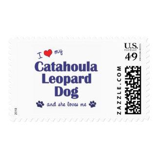 I Love My Catahoula Leopard Dog (Female Dog) Postage Stamp
