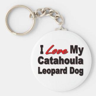 I Love My Catahoula Leopard Dog Keychain