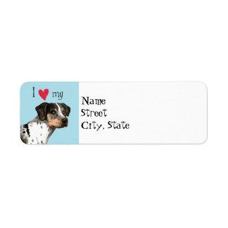 I Love my Catahoula Leopard Dog Label