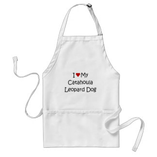 I Love My Catahoula Leopard Dog Lover Gifts Adult Apron