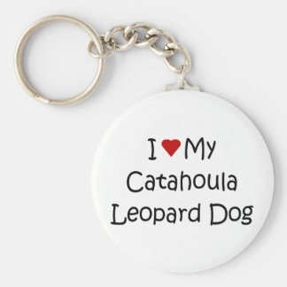 I Love My Catahoula Leopard Dog Lover Gifts Keychain