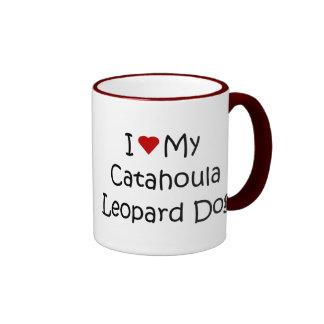 I Love My Catahoula Leopard Dog Lover Gifts Ringer Mug