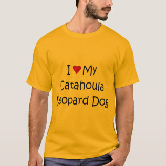 I Love My Catahoula Leopard Dog Lover Gifts T-Shirt