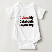 I Love My Catahoula Leopard Dog Merchandise Baby Bodysuit