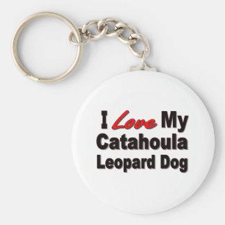 I Love My Catahoula Leopard Dog Merchandise Keychain