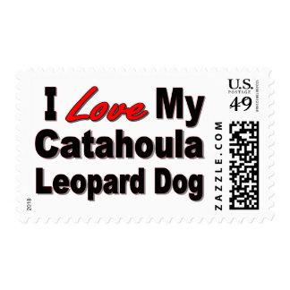 I Love My Catahoula Leopard Dog Merchandise Postage