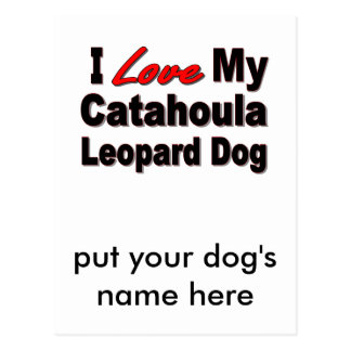 I Love My Catahoula Leopard Dog Merchandise Postcard