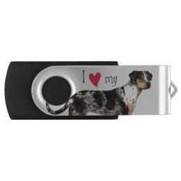 I Love my Catahoula Leopard Dog USB Flash Drive