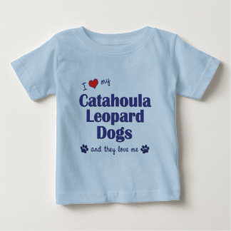 I Love My Catahoula Leopard Dogs (Multiple Dogs) Baby T-Shirt