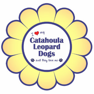 I Love My Catahoula Leopard Dogs (Multiple Dogs) Cutout