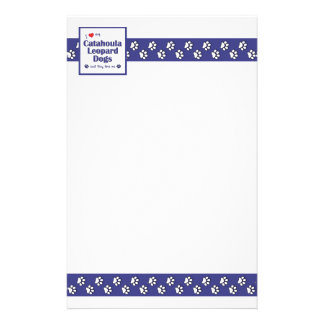 I Love My Catahoula Leopard Dogs (Multiple Dogs) Personalized Stationery