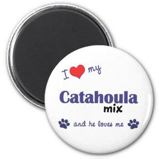 I Love My Catahoula Mix (Male Dog) 2 Inch Round Magnet