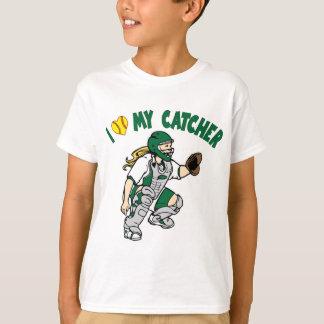 I Love My Catcher, green T-Shirt
