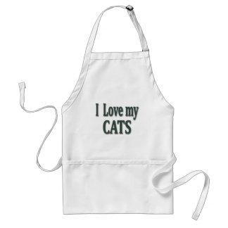 I Love my Cats Adult Apron