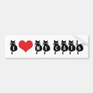 I Love My Cats Bumper Sticker