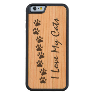 I Love My Cats Carved® Cherry iPhone 6 Bumper Case