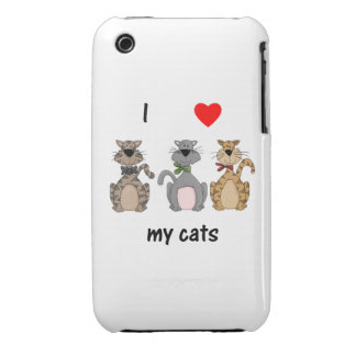 I Love My Cats iPhone 3 Case