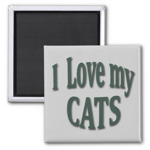 I Love my Cats Magnets